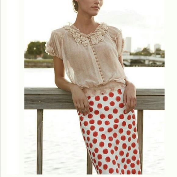0431199247 Anthropologie Dresses & Skirts - Blurred Dots Corey Lynn Calter Pencil Skirt